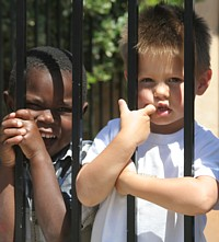 kids behind bars
