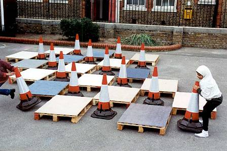 Life-size board game