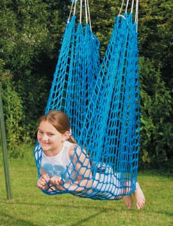 A net swing's swaddle gives proprioceptive input