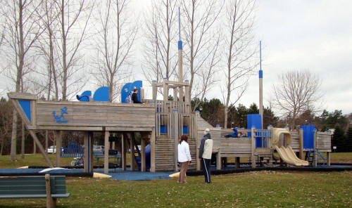 Boat playground in Bedford, Canada