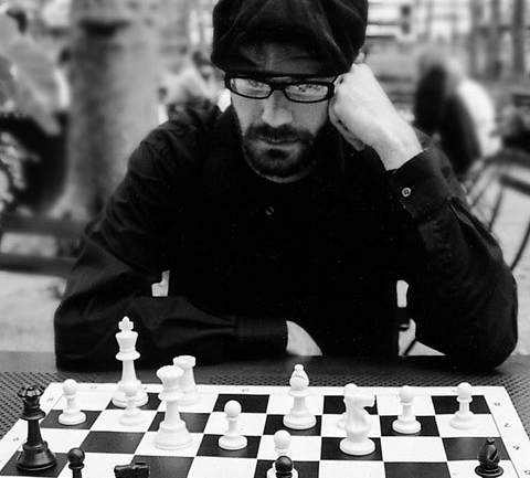Chess player in a New York park