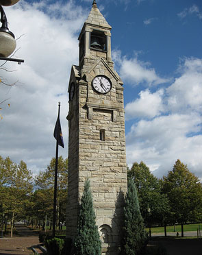 Clocktower in Corning New York