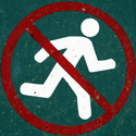 No running sign