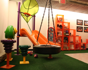 Play equipment at KaBOOM! office