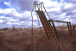 Spooky abandoned playground