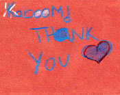KaBOOM! thank you card