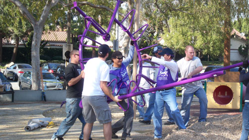 Veterans Memorial Park Playground Build Culver City California