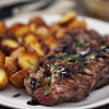 Grilled beefsteak with potateos