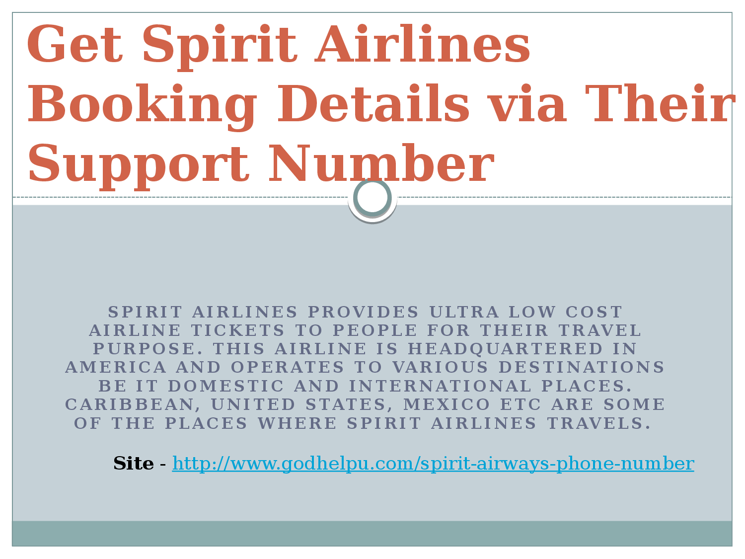Spirit airlines booking phone number