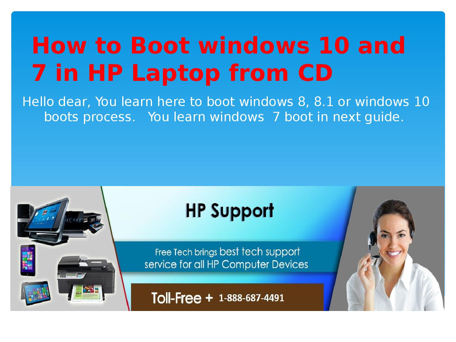 How to Boot windows 10 and 8 1 in HP Laptop from CD