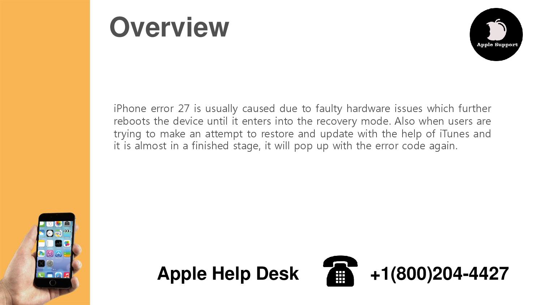 How to Fix iPhone Error 27?