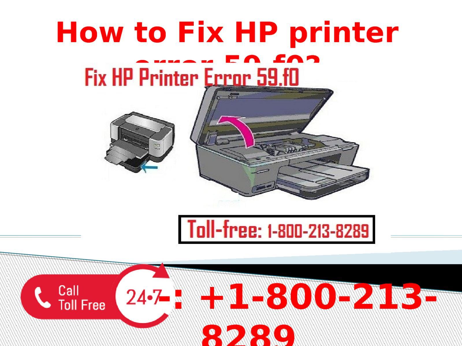 1-800-213-8289 Fix HP printer error 59 f0