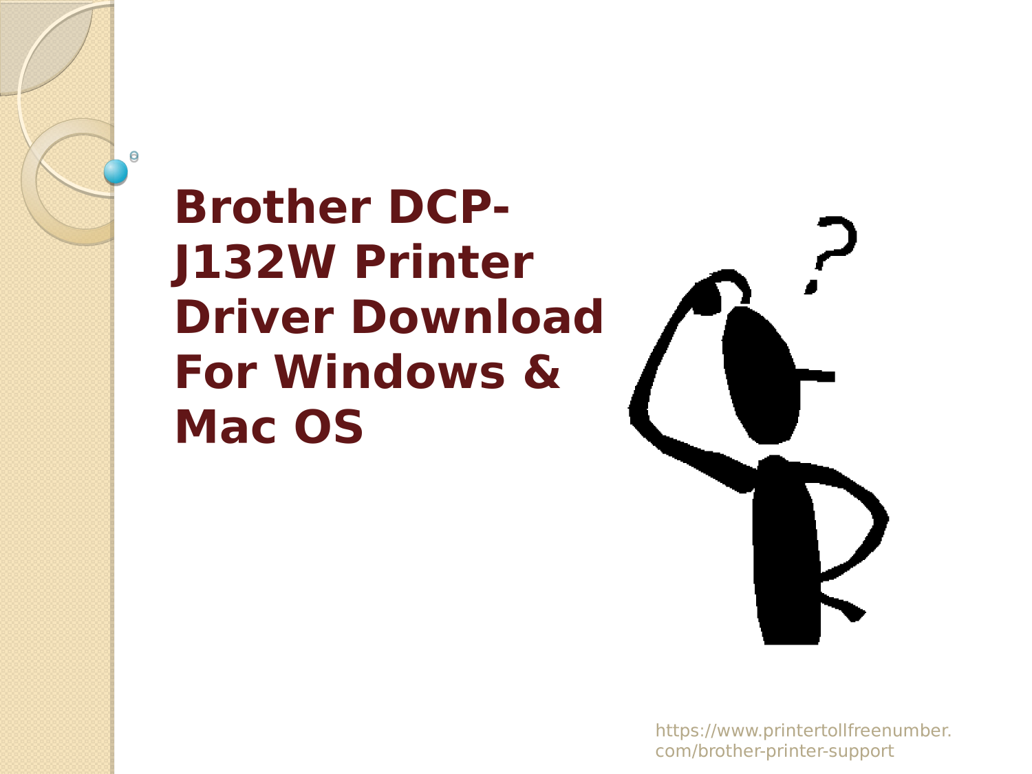 Brother DCP-J132W Printer Driver Download For Windows & Mac OS