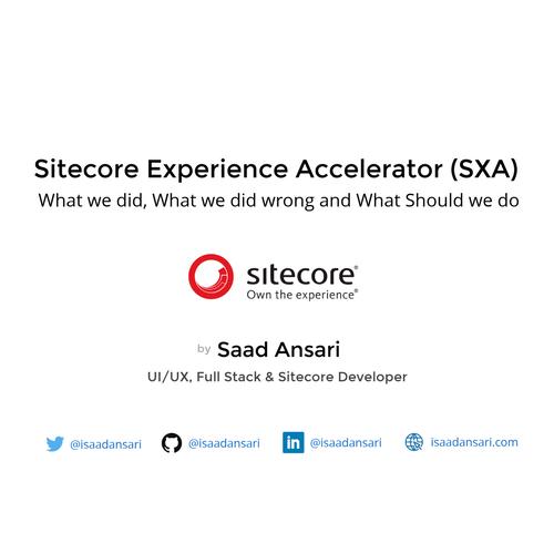 Sitecore Experience Accelerator (SXA)