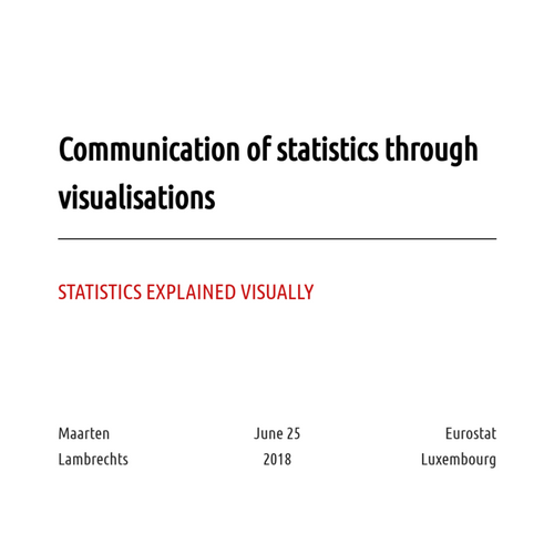 Communication of statistics through visualisations