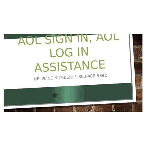 AOL Sign In, AOL Log In Assistance   1-800-488-5392