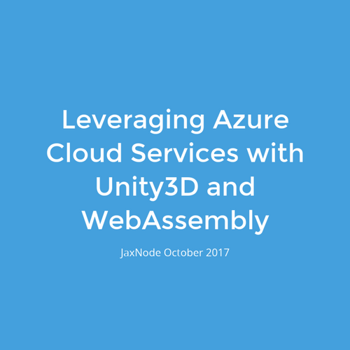 Unity3D and WebAssembly