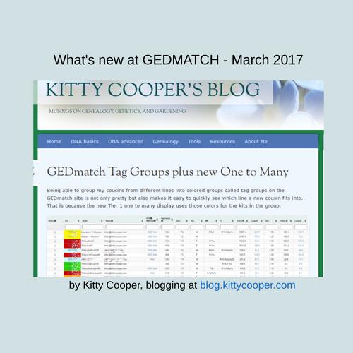 GEDmatch Tier 1 tools - 2017