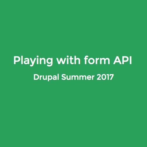 Playing whit Form API in D8