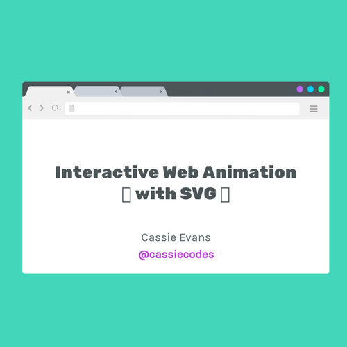 Interactive web animation with SVG