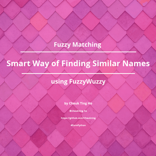 Fuzzy Matching - Smart Way of Finding Similar Names Using Fuzzywuzzy