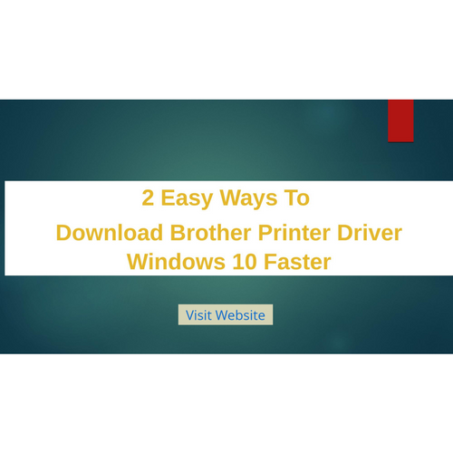 Easy#2 Way to Download Brother Printer Driver Windows 10