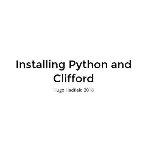 Installing Python and Clifford