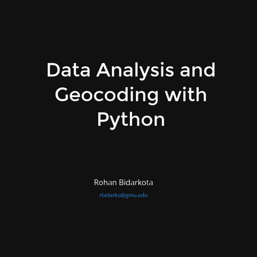 Data Analysis and Geocoding with Python