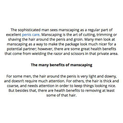 manscaping groin images