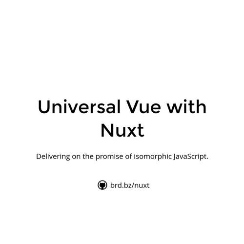 Universal Vue with Nuxt