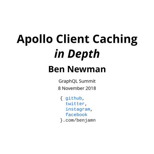 Apollo Client Caching in Depth