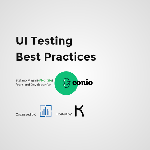 UI testing best practices - Milano FrontEnd