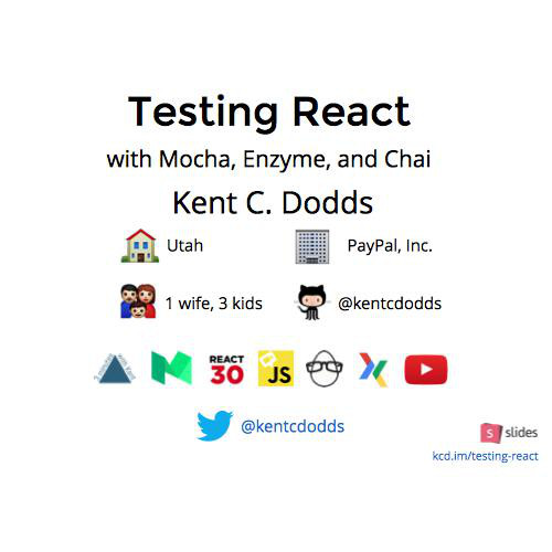 Testing React with Mocha, Enzyme, and Chai