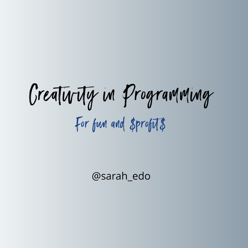 Creativity in Programming