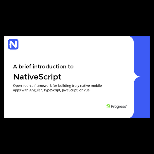 Introduction to NativeScript
