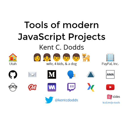 Tools of modern JavaScript projects