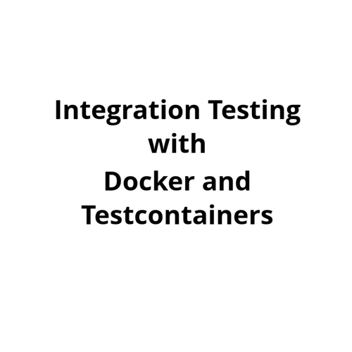 Testcontainers Spring Boot