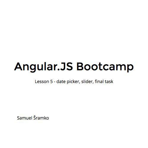 Angular JS Bootcamp