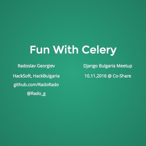 Fun With Celery