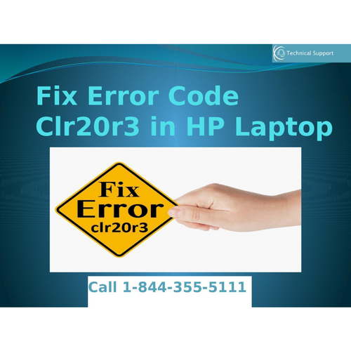 1-844-355-5111 Fix Error Code Clr20r3 in HP Laptop
