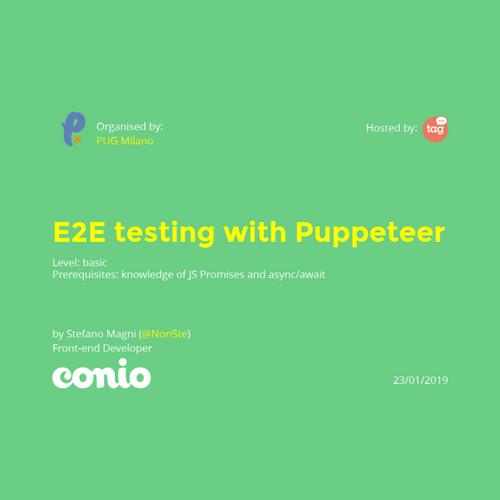 E2E testing talk for Grusp MI