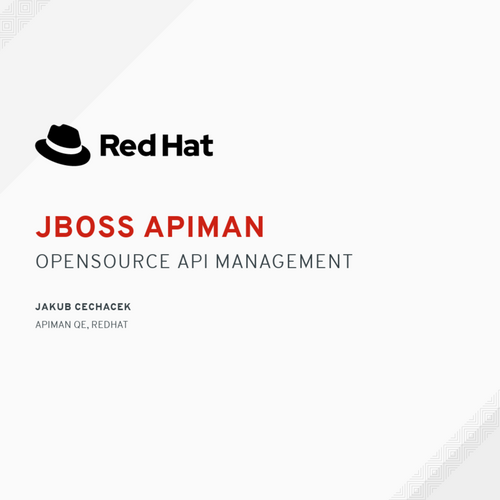 JBoss Apiman: Opensource API management