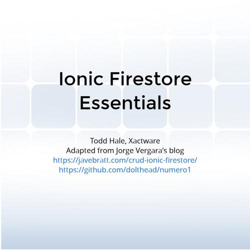 Ionic Firestore