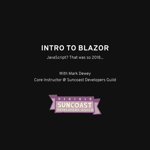 Blazor - Welcome Slides