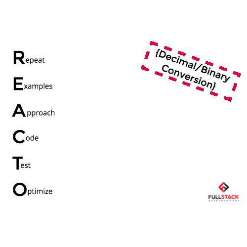Reacto: Decimal/Binary Conversion