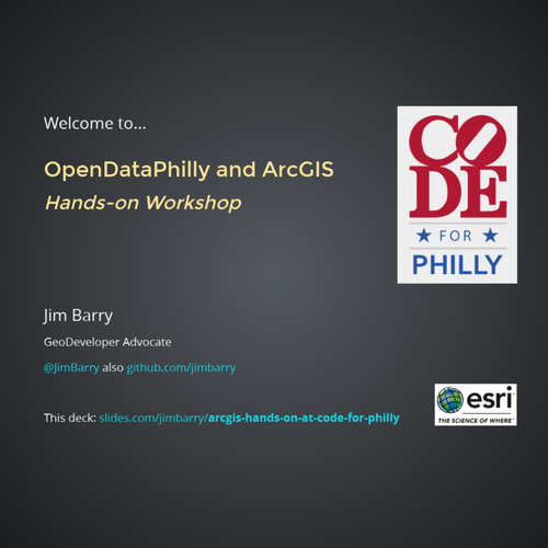 ArcGIS Hands-on at Code for Philly