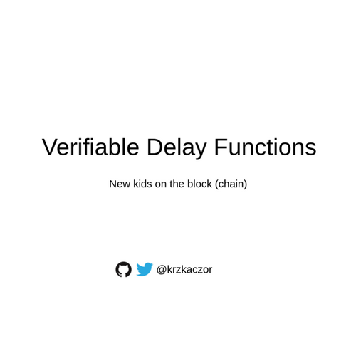 Verifiable Delay Functions