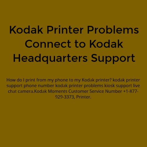 Kodak Printer Problems Connect to Kodak Headquarters