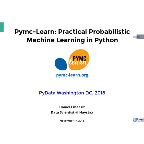 Pymc3 Examples