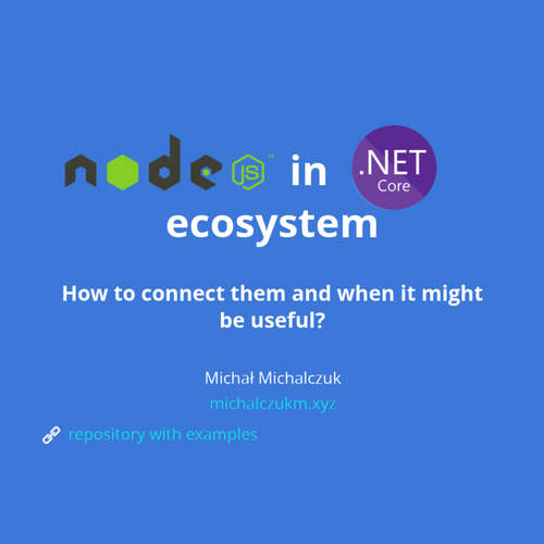 Node js in  Net Core ecosystem